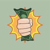 fist holding money