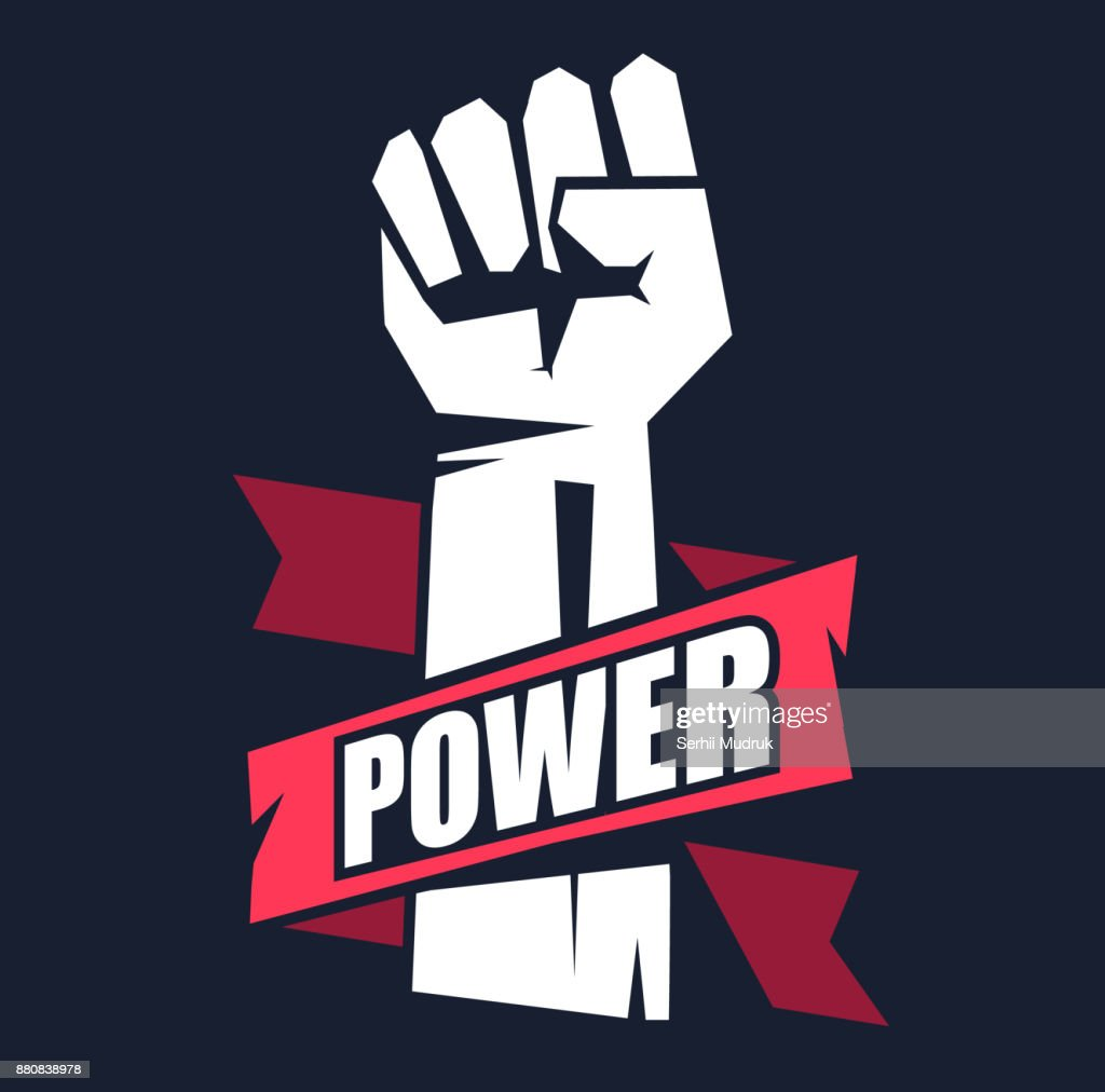 Fist male hand, proletarian protest symbol.
