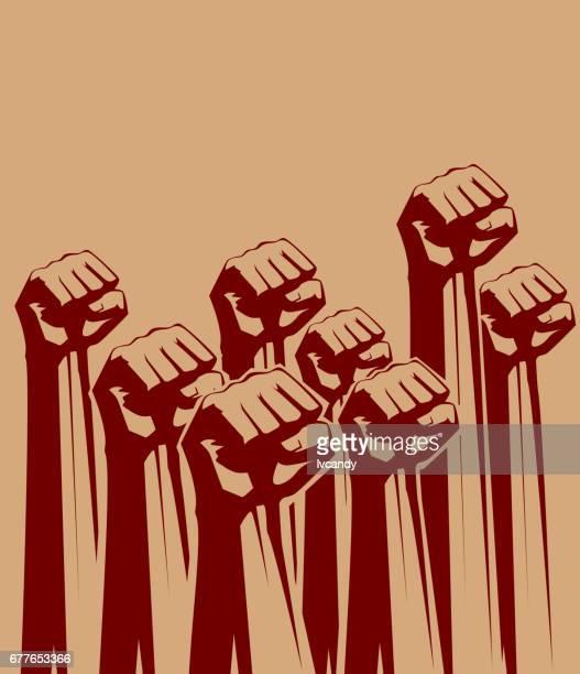 fist power - authority stock illustrations
