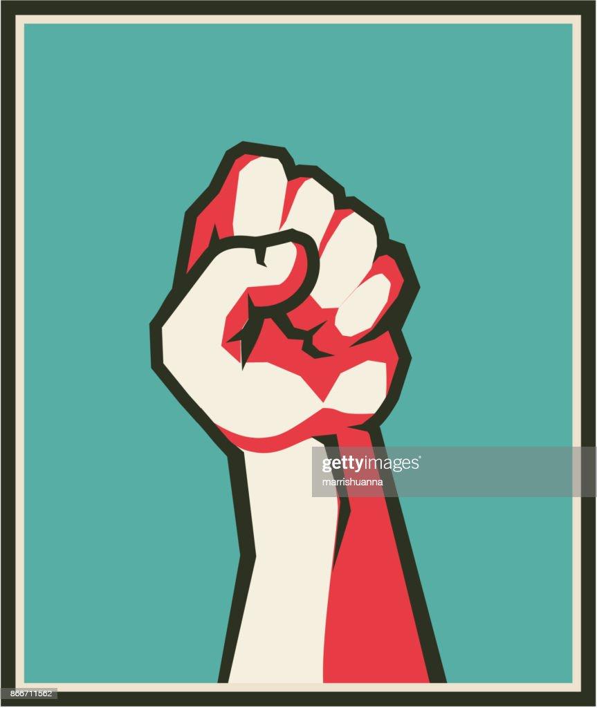 fist retro poster