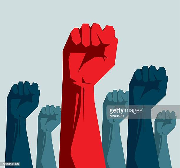 fist - politics concept stock illustrations
