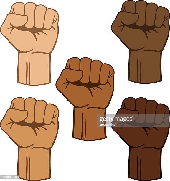 fists - knockout stock illustrations