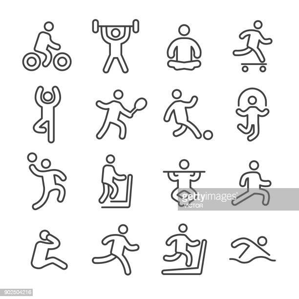 Fitness and Exercise Icons - Line Series