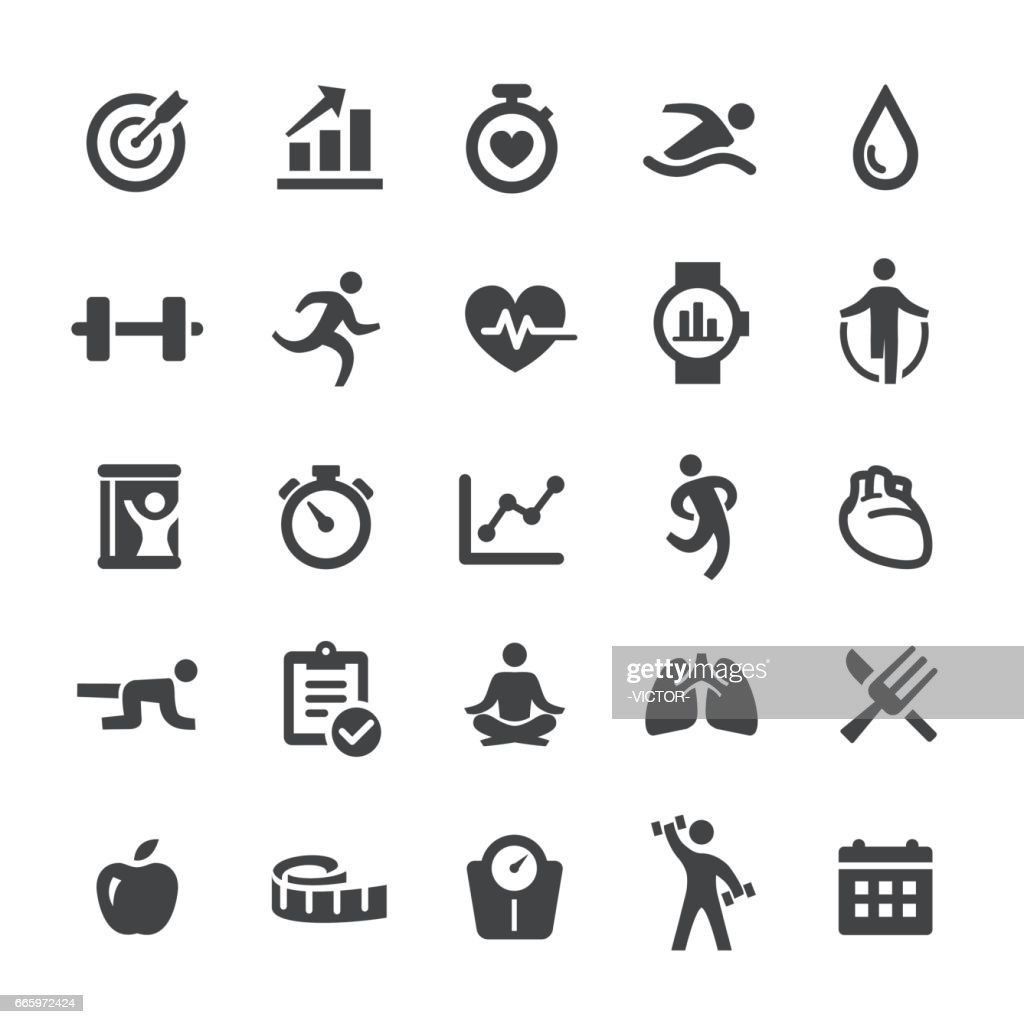 Fitness and Exercise Icons - Smart Series : stock illustration