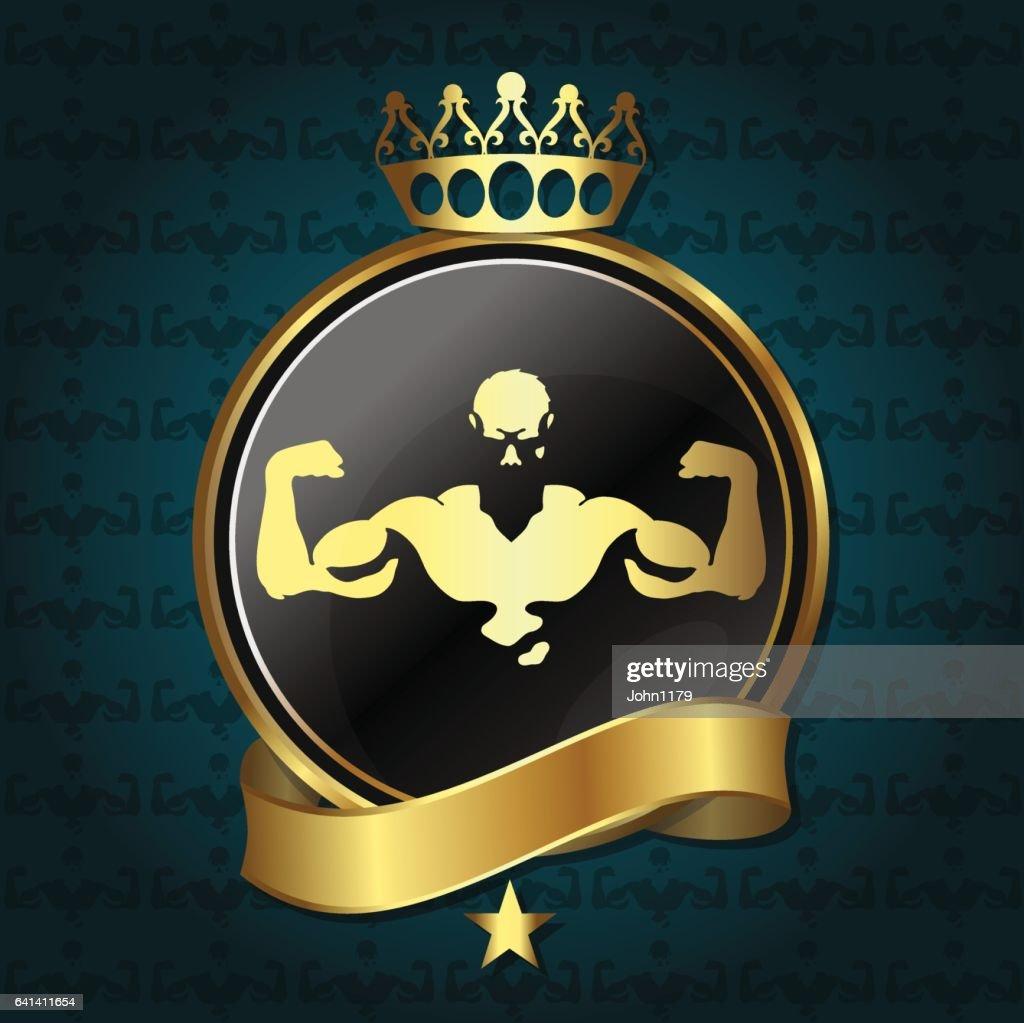 Fitness and gym emblem