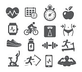 Fitness and Gym icons