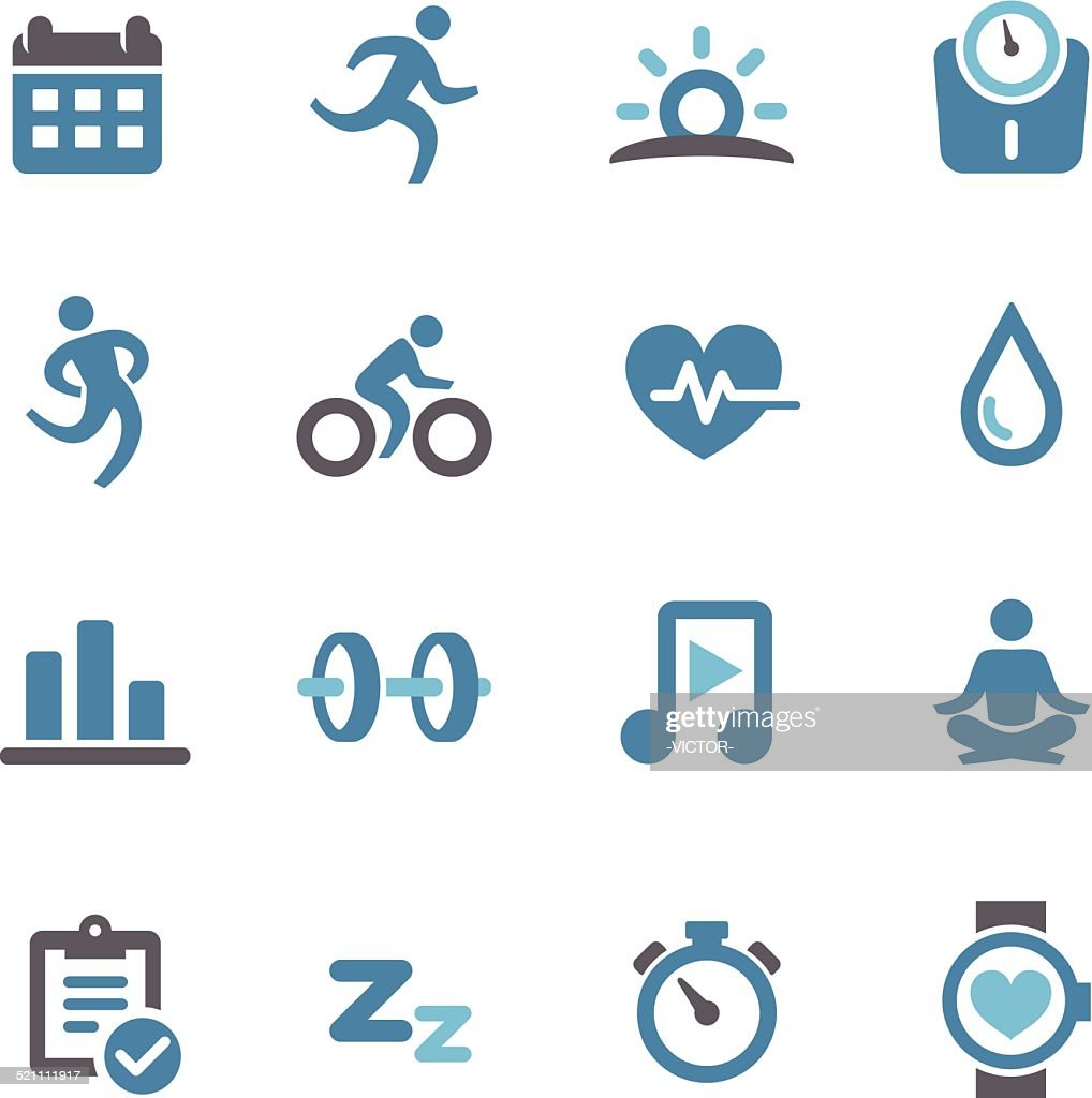 Fitness and Healthy Icons - Conc Series