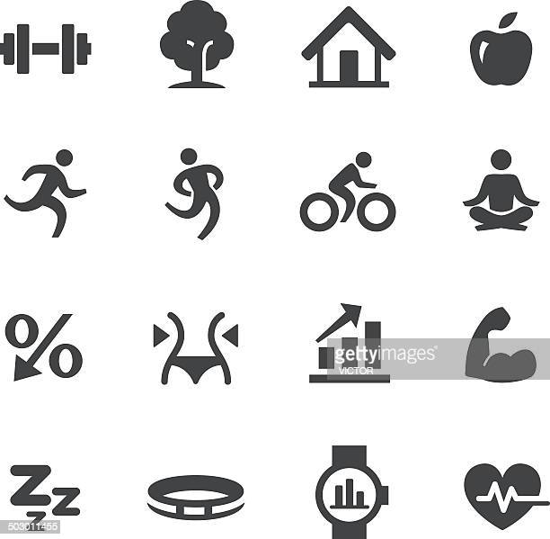 Fitness and Healthy Lifestyle Icons - Acme Series