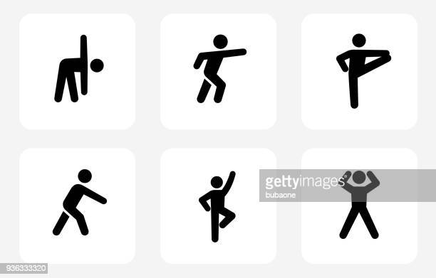 fitness and healthy lifestyle - stretching stock illustrations, clip art, cartoons, & icons