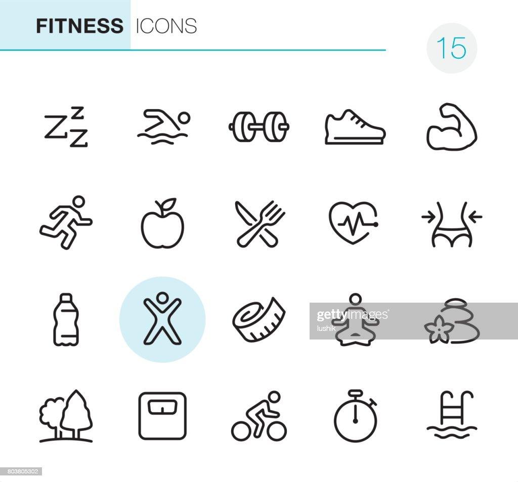 Fitness und Sport - Perfect Pixel icons : Stock-Illustration