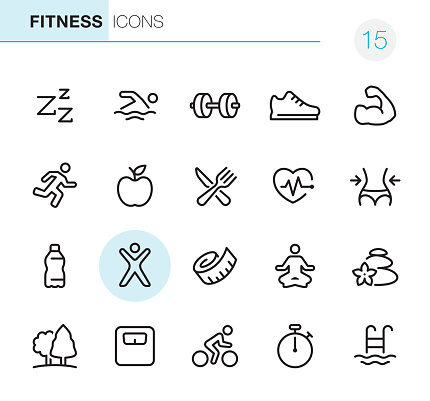 Fitness and Sport - Pixel Perfect icons - gettyimageskorea
