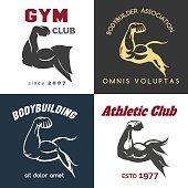 Fitness center icon set
