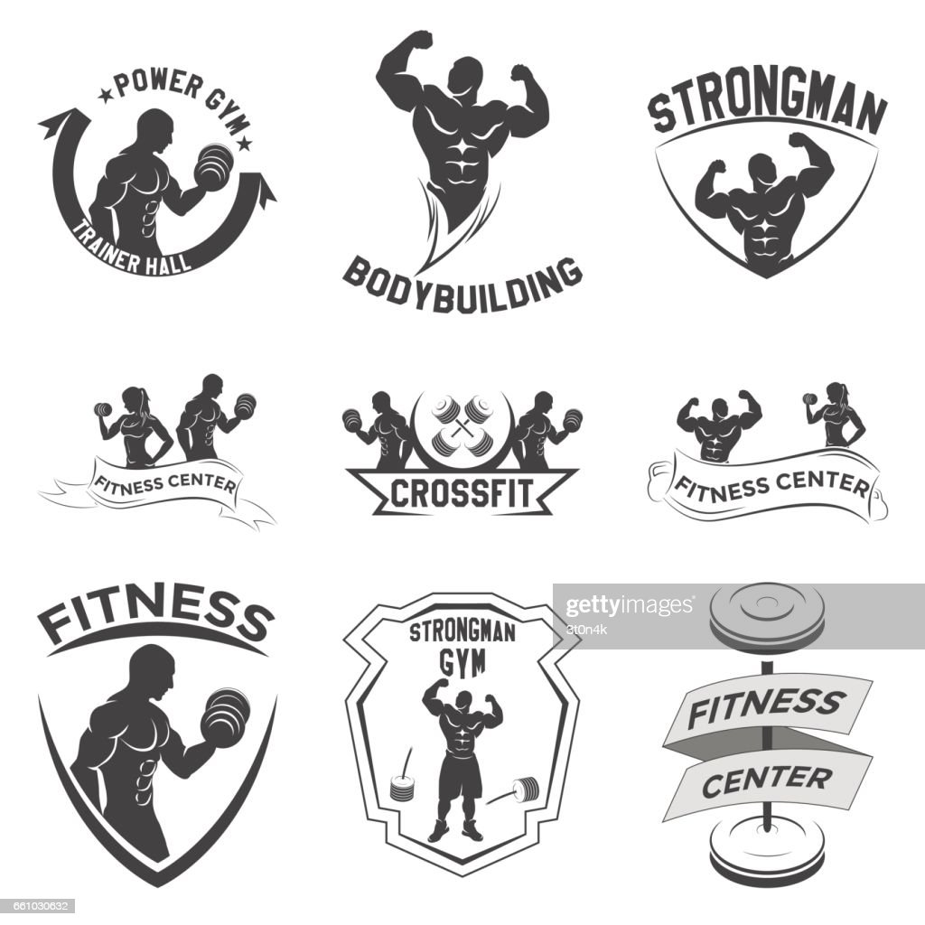 fitness emblems, icon design