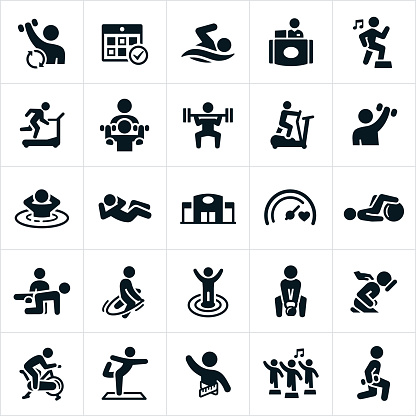 Fitness Facility Icons - gettyimageskorea