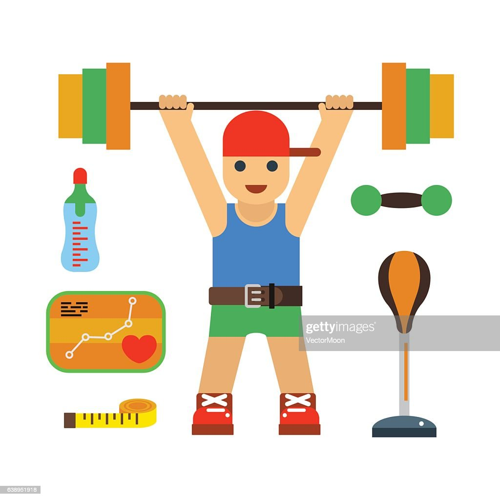 Fitness gym club vector icons.