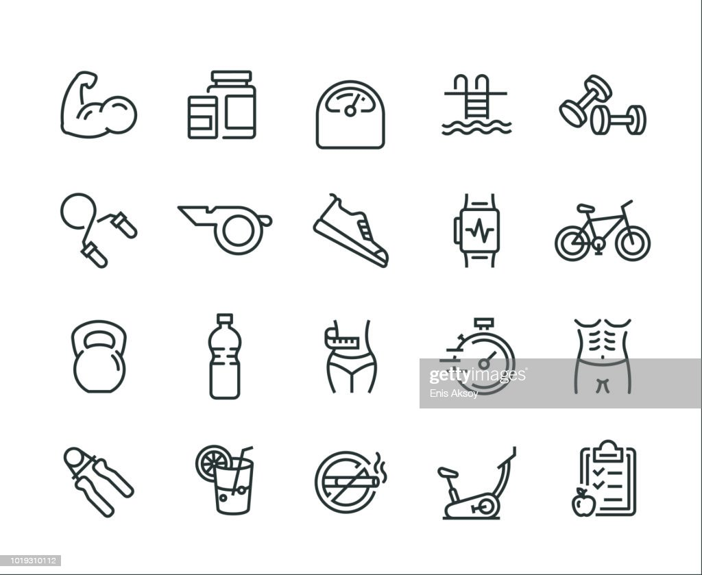 Fitness Icon Set : stock illustration