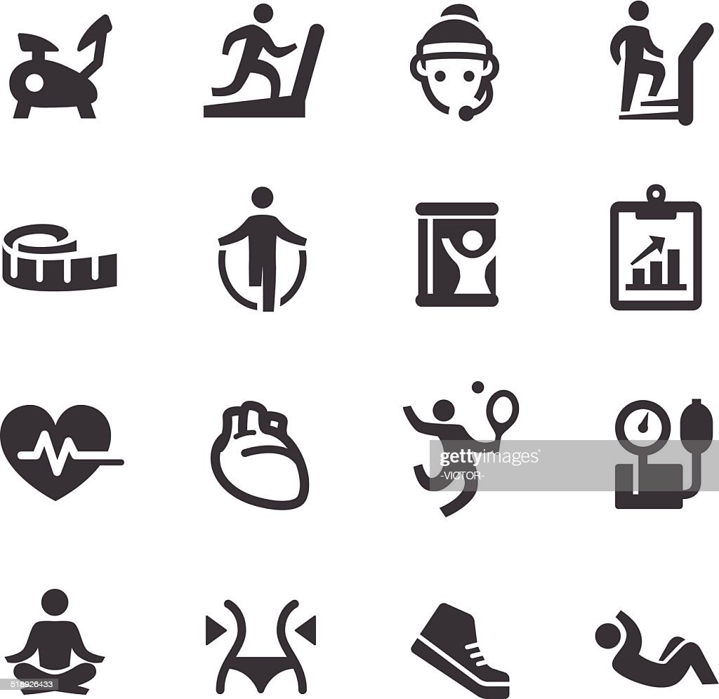 Fitness Icons - Acme Series : Stockillustraties