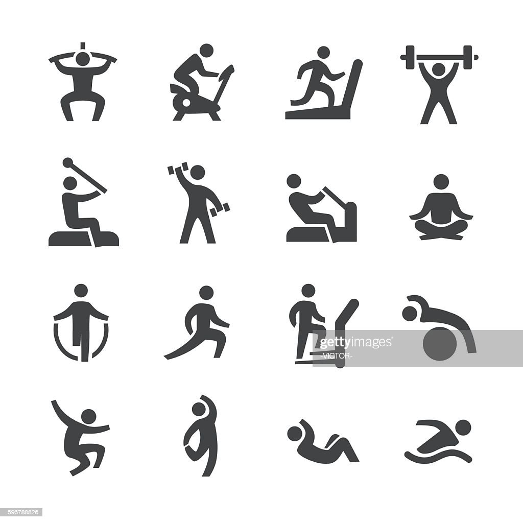 Fitness Icons - Acme Series : stock illustration