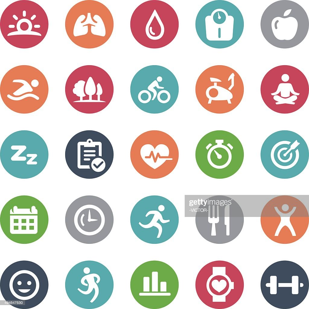 Fitness Icons - Bijou Series : stock illustration