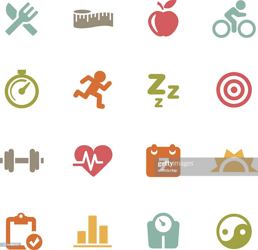 Fitness Icons   Flat Series