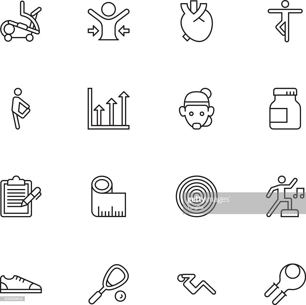 Fitness Icons | set 2 - Light : stock illustration