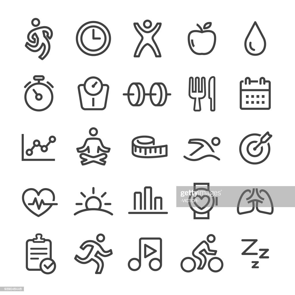 Fitness Icons - Smart Line Series : stock illustration