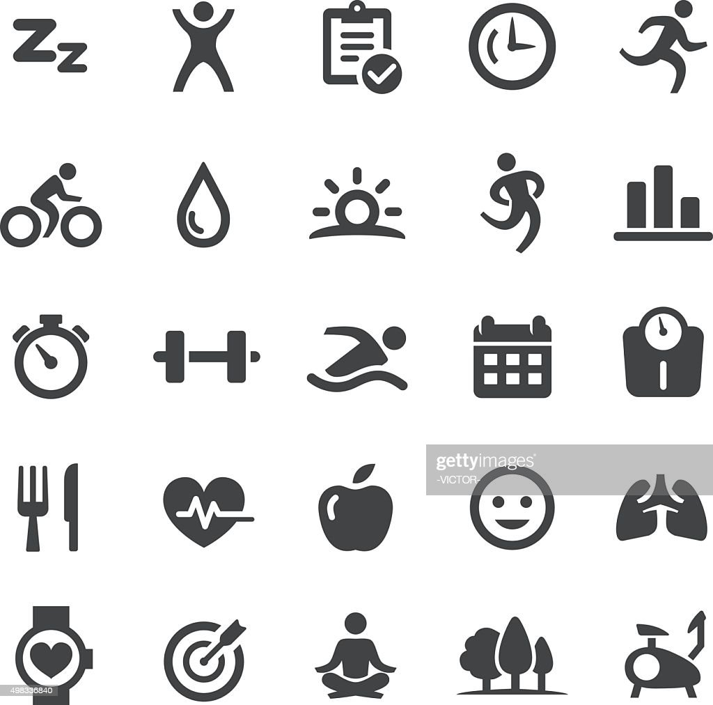 Fitness Icons - Smart Series : Stock Illustration