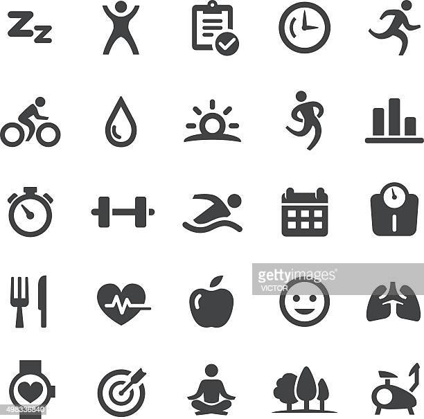 fitness icons - smart series - dieting stock illustrations, clip art, cartoons, & icons
