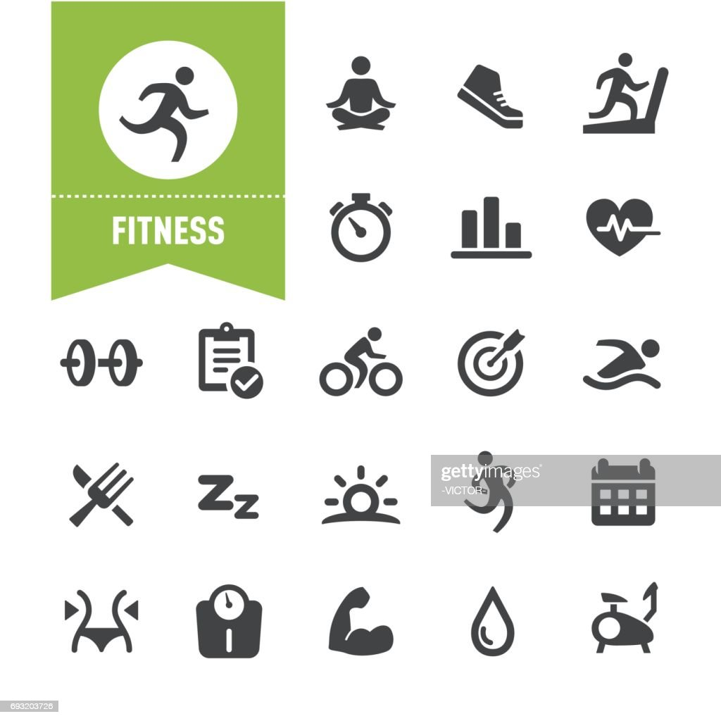 Fitness Icons - Special Series : stock illustration