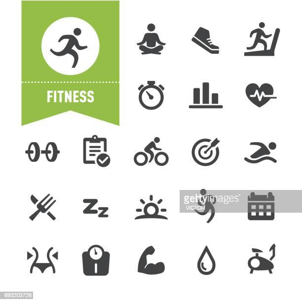 fitness icons - special series - sport stock illustrations