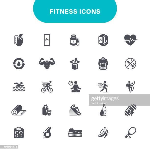 fitness icons - water aerobics stock illustrations, clip art, cartoons, & icons