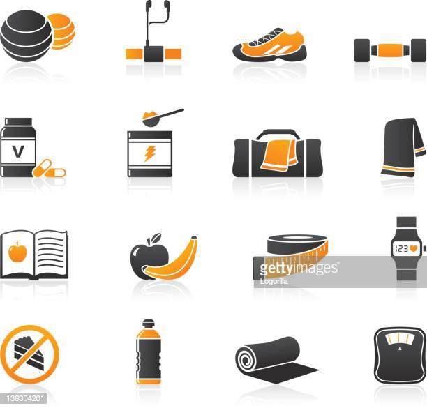 illustrations, cliparts, dessins animés et icônes de icônes de remis'en forme - sac