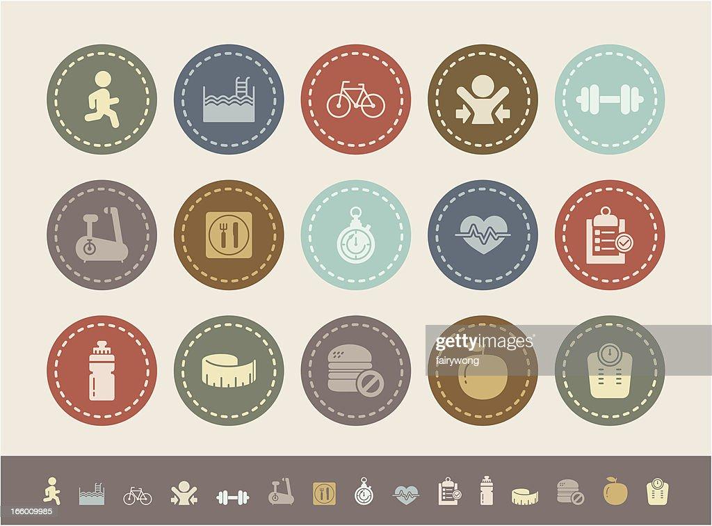 fitness icons : stock illustration