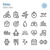 Fitness Icons - Vector Line Series