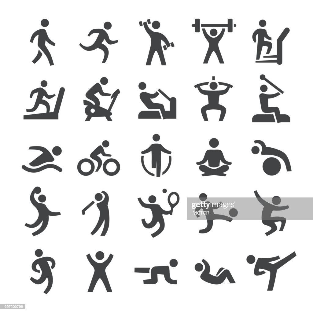 Fitness method Icons - Smart Series : stock illustration