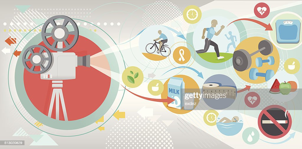 Fitness projection : stock illustration
