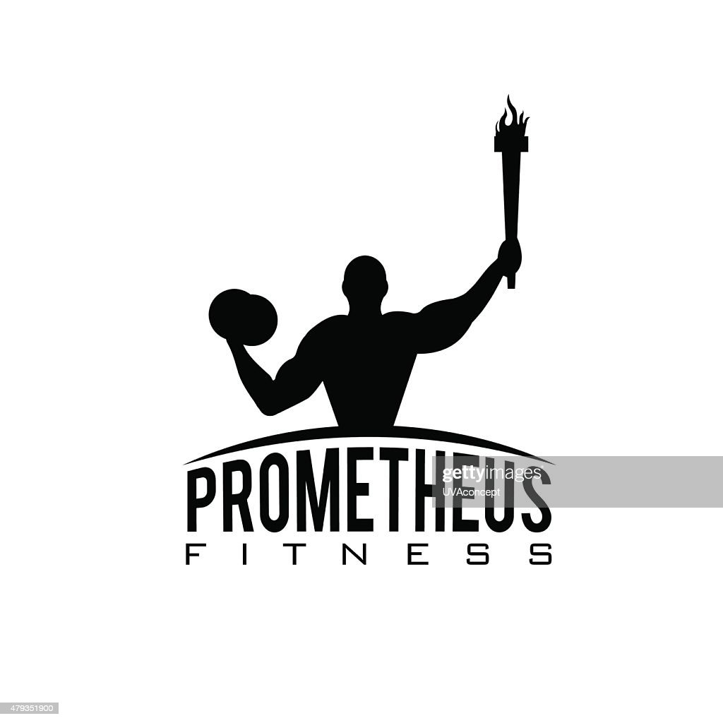fitness prometheus with man holding a torch