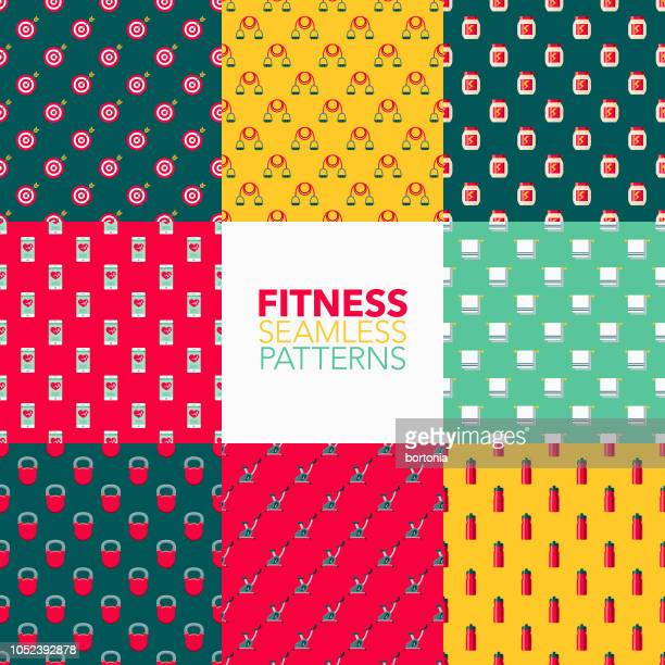 Fitness Seamless Pattern Set