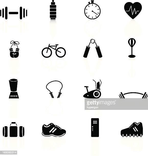 illustrations, cliparts, dessins animés et icônes de série de remise en forme - gant de boxe