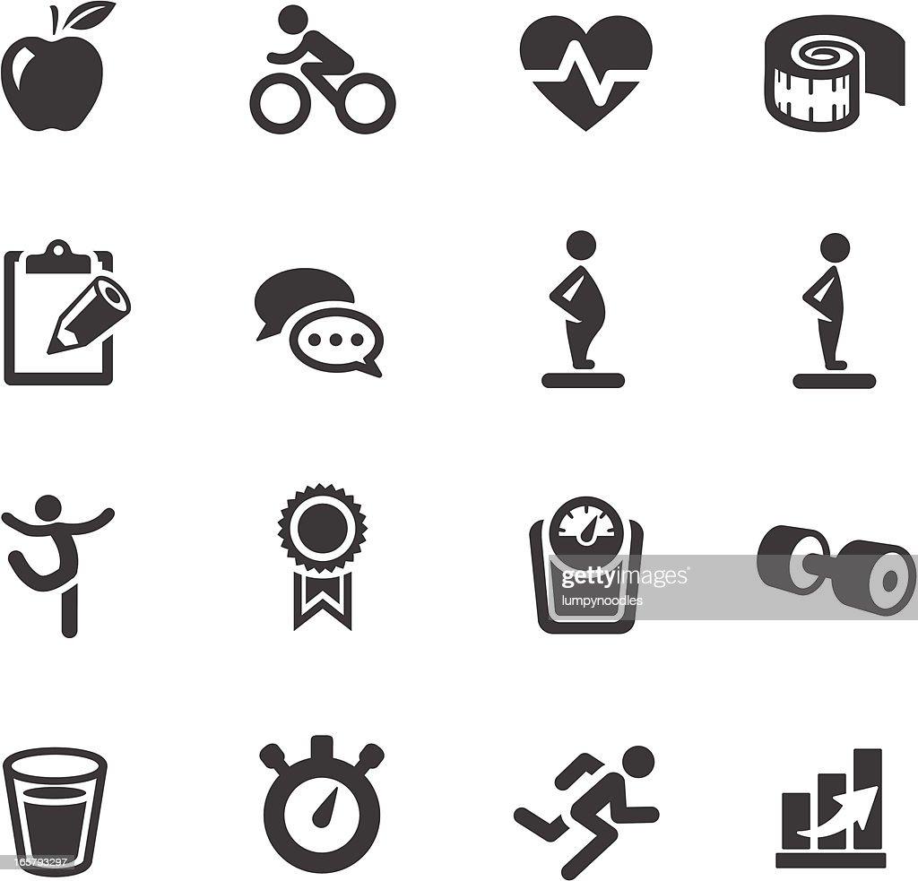 Fitness Symbols : stock illustration