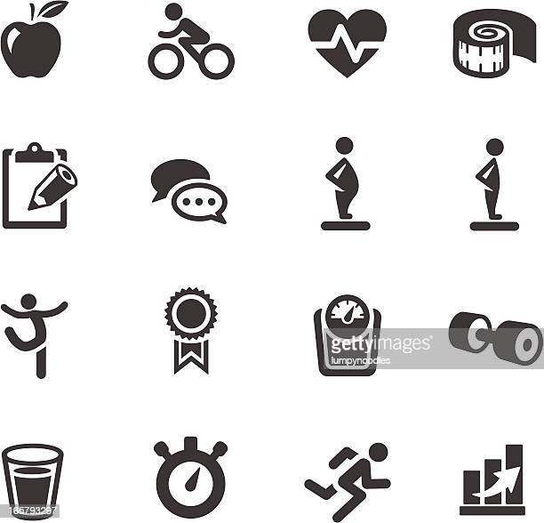 fitness symbols - body conscious stock illustrations, clip art, cartoons, & icons