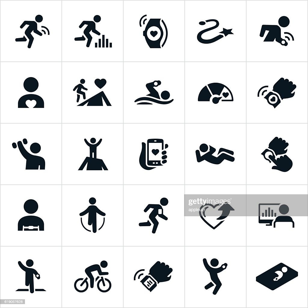 Fitness Tracking Icons : stock illustration