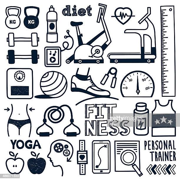 fitness - weights stock illustrations, clip art, cartoons, & icons