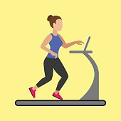 Fitness Woman on the running track