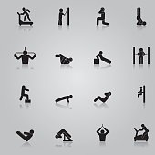 Fitness Workout Icon Set