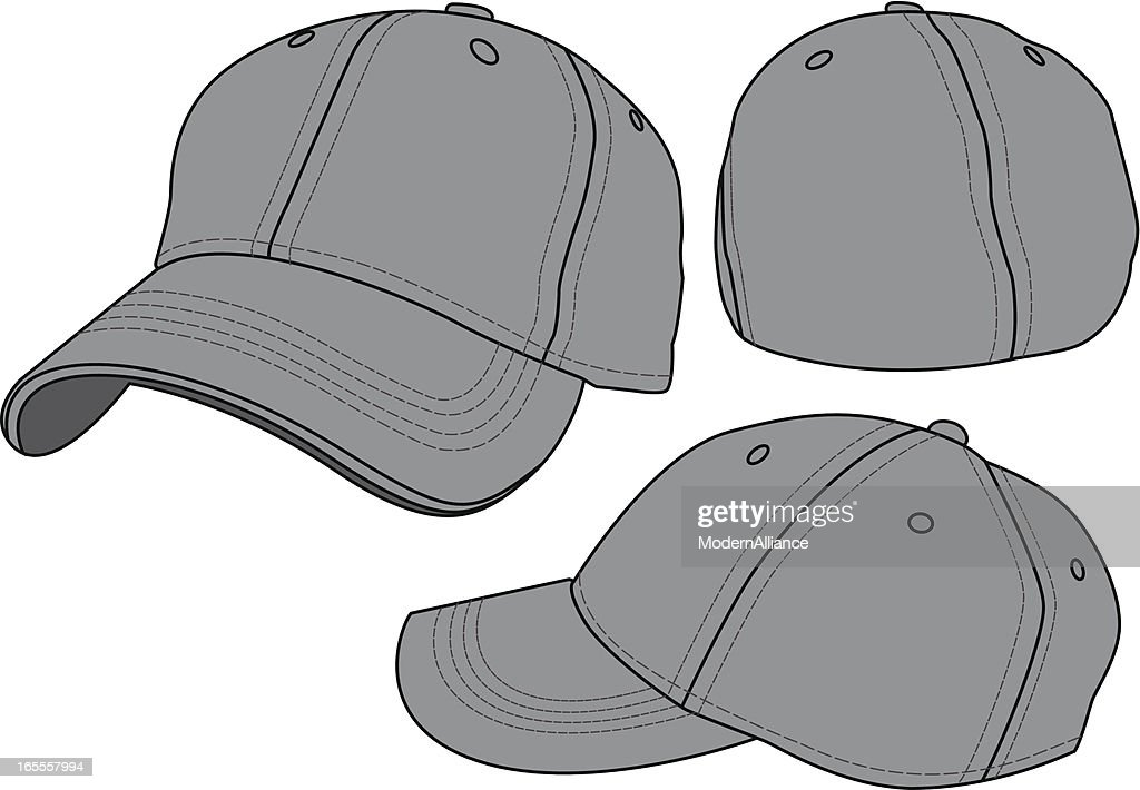 Fitted Baseball Hat Template Vector Art | Getty Images
