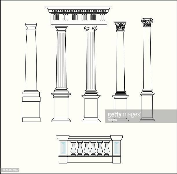 five classical orders - corinthian stock illustrations, clip art, cartoons, & icons