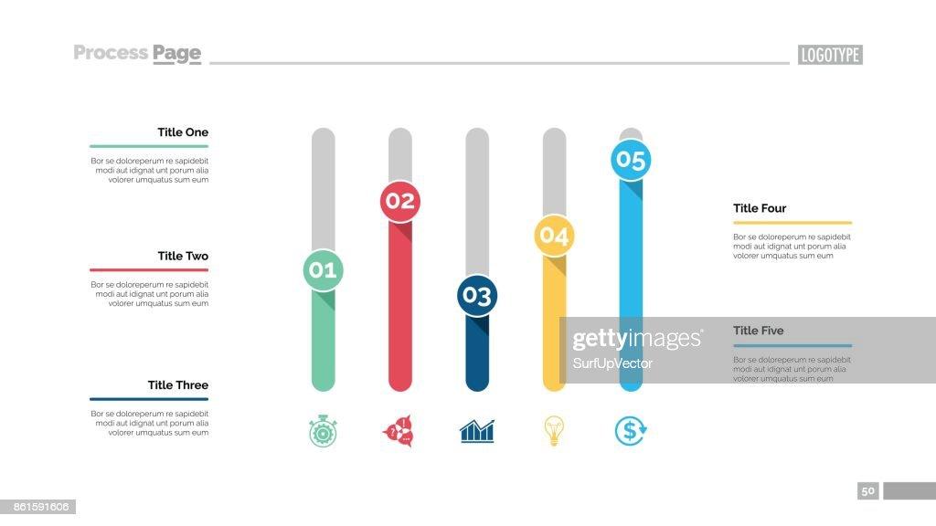 Five Columns Chart Slide Template