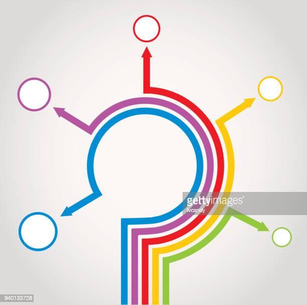 5 方向矢印 - 五つ点のイラスト素材/クリップアート素材/マンガ素材/アイコン素材