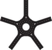Five export traffic circle